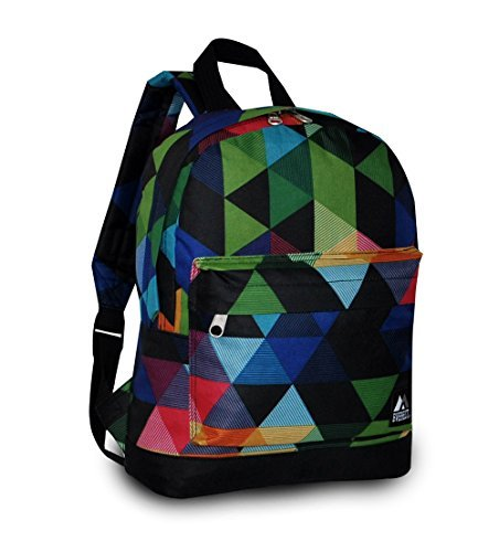 """Everest Junior Backpack, Multi Dot, One Size 2 <p>Available in a range of eye-catching colors and prints, this backpack is perfect for stylish young kids on the go. The Everest Junior Kids Backpack is made from polyester fabric and features a colorful allover print with a zip top main compartment and a zip front compartment to hold smaller items. Perfect for kids heading off to preschool or day care, this slim backpack offers a distinctive, eye-catching design that can be used to carry school supplies, art supplies, or lunch. Adjustable backpack straps and a looped top haul handle make it easy and comfortable for little ones to carry. Dimensions 10"""" x 3.5"""" x 13"""" (LxWxH) Durable compact size backpack for kids and youths Weighing in at 8.8 ounces (250g), this ultra lightweight backpack is one of the easiest things to wear and carry Easy access front pocket with hidden zipper closure Available in fun prints for the ultimate personal expression Imported</p>"""