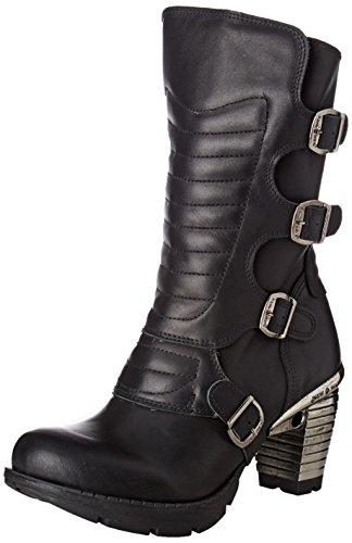 New Rock Damen M-tr003x-s2 Biker Boots, Schwarz, UK 4, UK 4 Noir (Black)