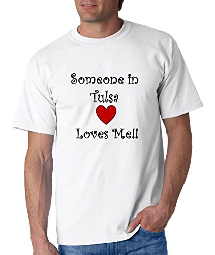 SOMEONE IN TULSA LOVES ME - City-series - White T-shirt - size XXL