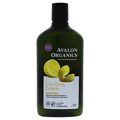 Avalon Organics Clarifying Lemon Shampoo, 11 Ounce Avalon Organics Nourishing Shampoo