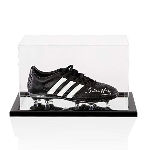 Glenn Hoddle Signed Football Boot Adidas In Acrylic Display Case Autographed Soccer Cleats