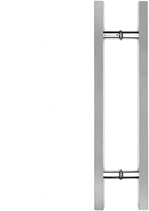 Aldaba Mango de acero inoxidable puerta de cristal con marco de ...