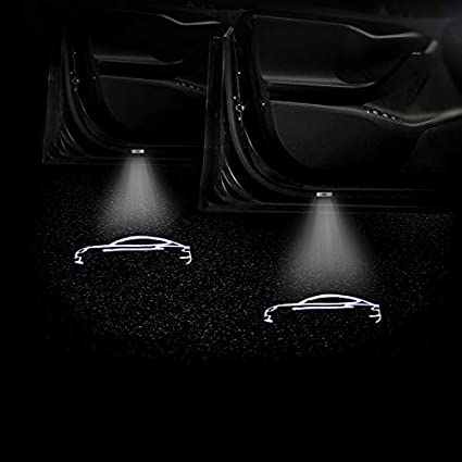 Y&D 2019 1PCS Tesla Door Light Car Door Led Logo Projector Light ...