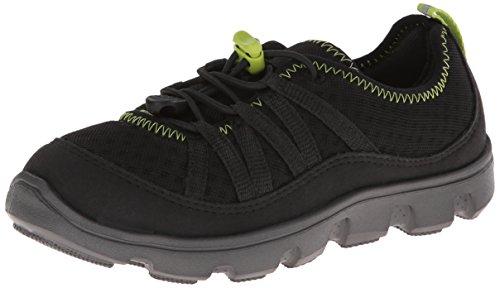 Crocs Kids 16225 Duet Sport Bungee Sneaker (Little Kid/Big Kid),Black/Graphite,3 M US Little Kid
