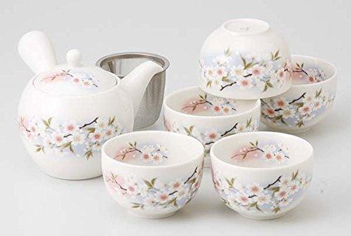 Mino Yaki Sakura Porcelain 350ml 3.5inch Japanese Teapot by Watou.asia
