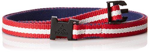 prAna Chalkbag Cotton Belt, Red White Blue, One Size (Prana Womens Chalk Bag)