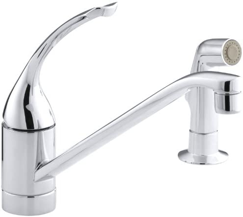KOHLER K-15176-FL-CP Coralais Single Control Kitchen Sink Faucet, Polished Chrome