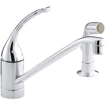 Kohler K 15176 Fl Cp Coralais Single Control Kitchen Sink
