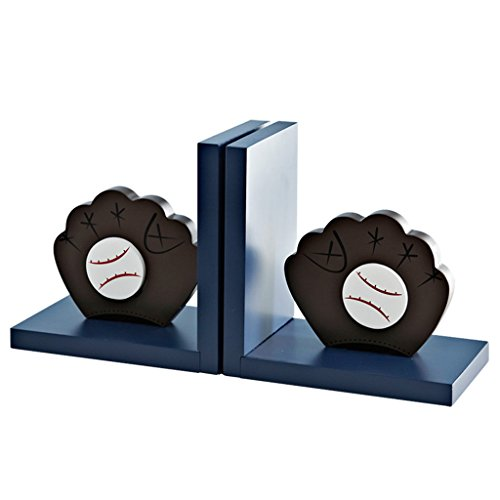 Bookends bookshelves wooden bookcase bookends boy room books storage rack (Color : Blue) by None (Image #7)'