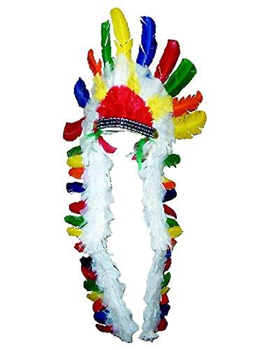 Cappello di piume lungo da capo indiano  Amazon.it  Giochi e giocattoli bc9785d2ff20