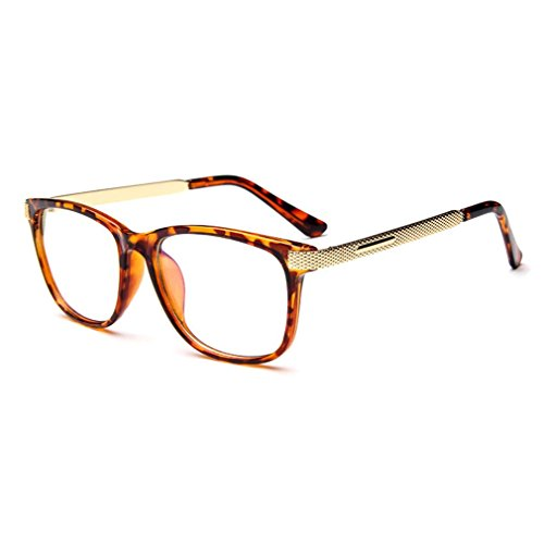 LOMOL Unisex Fashion Classic Retro College Style Transparent Clear Lens Frame - Mosley Tribes Aviator