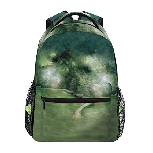 (Road To The Forest Backpack Student Schoolbags Travel Shoulders Bags for Women)