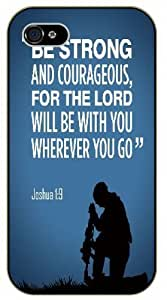 diy phone caseBe strong and courageous, for the Lord will be with you wherever you go - Joshua 1:9 - Army soldier - Bible verse ipod touch 4 black plastic casediy phone case