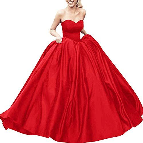 Bess Robe De Bal Des Femmes De Mariée Lacer Soirée De Bal Rouge Doux Robe 16 Partie