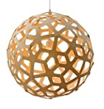 """Vanillawood is an official dealer of David Trubridge signature lighting. """"This form is based on the structure of a geometric polyhedron. Every piece is identical, making home assembly easy. The way it grows outwards with fingers reminds me of coral. ..."""