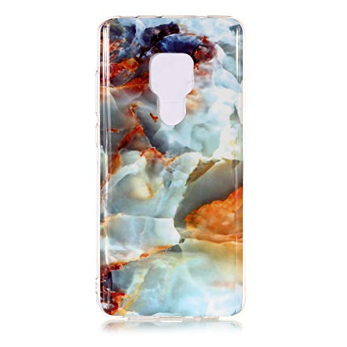 for Huawei Mate 20 Marble Case with Screen Protector,Unique Pattern Design Skin Ultra Thin Slim Fit Soft Gel Silicone Case,QFFUN Shockproof Anti-Scratch Protective Back Cover - Fire Cloud by QFFUN (Image #1)