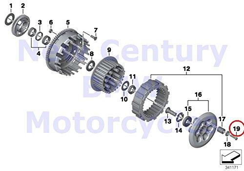 BMW Genuine Motorcycle Clutch - Single Parts Hex Bolt M6X45-8.8-PHR F700GS F800GT F800S F800ST F650GS F800GS F800R F800GS Adventure by BMW