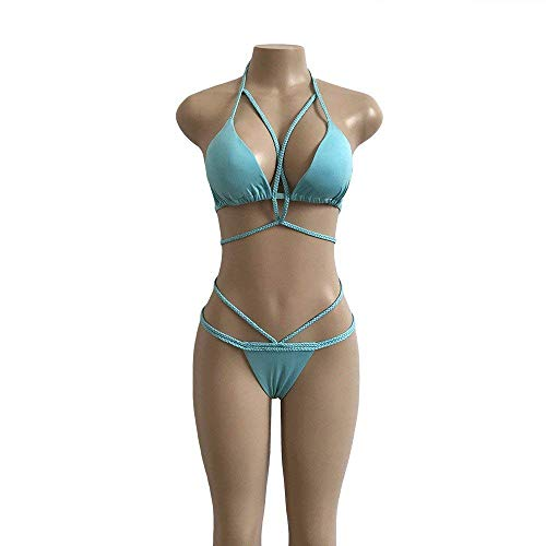Bleu Pure Main Taille Fait La Bleu À Couleur coloré Bikini Oudan xpqYnIwO8