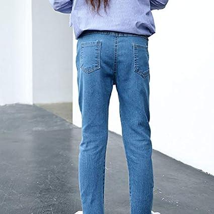 Doitsa 1 x niños niñas Jean Déchirés Primavera y otoño Larga Jean Mode Vitalité Mignon Jeans Pantalón para 5 años o Plus, Color Azul, Mezclilla, Azul, ...
