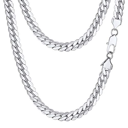 Stainless Steel Snake - PROSTEEL Stainless Steel Snake Chain Chunky Necklace 8mm Vintage Cuban Link Women Jewelry Gift Men Chain Necklace
