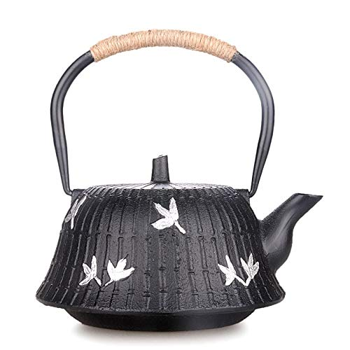 Teapot Cast Iron Pots, Handmade, Offset Paper, Copper Sleeve, Tea Sets 1.2L Tea, Kung Fu Tea, Hand-Old Iron Kettle, Cast Iron Pot, Home Decoration Kit, You Can Use All Kinds of Stoves by North cool