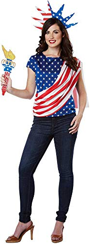 Patriotic Statue of Liberty Miss Independence America Costume Adult Women ()