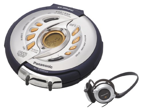 Panasonic SL-SW965VS Shockwave Portable MP3-CD Player with AM/FM Tuner (Silver) (Cd Panasonic Player Shockwave)