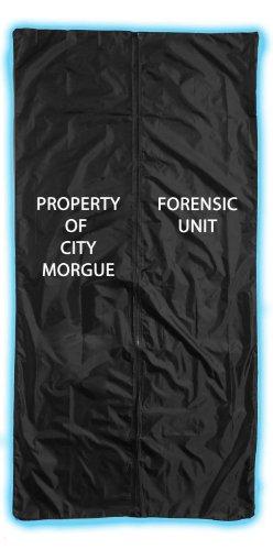 Forum Novelties Body Bag Zombie Black 5'10 x 22 (Broadway Props)