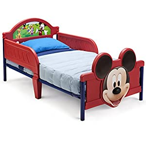 Delta Children 3D-Footboard Toddler Bed, Disney Princess 1