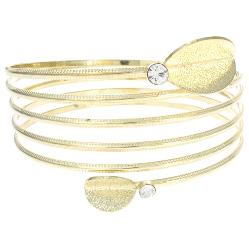 Gold Leaf Quinary Oberarm Band Armband/Armreifen, In Schlangenform