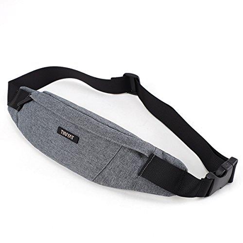 TINYAT Fanny Bag Waist Pack Sling Backpack Water Resistant D