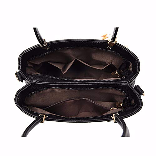 JIUSHIGUANG Shopping À Portés À Sacs Dames Mode Simple Voyage Main Sacs Tempérament Main Bandoulière noir Sac 6q6wxUgr