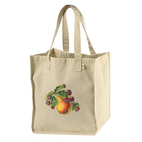 Market Tote Hemp Canvas Pear And Blackberry Vintage Look By Style In ()