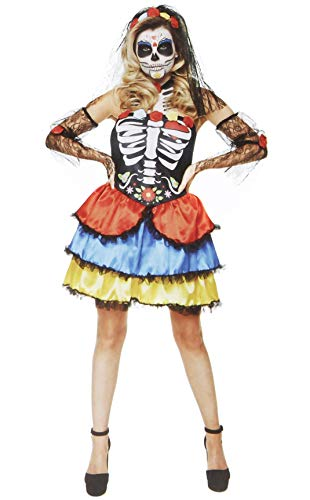 Women's Day of The Dead Costume - for Halloween Party Accessory - Extra Large