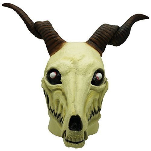 The Ancient Magus' Bride Elias Ainsworth Mask Horn Latex Cosplay Costume Prop by Heart lady