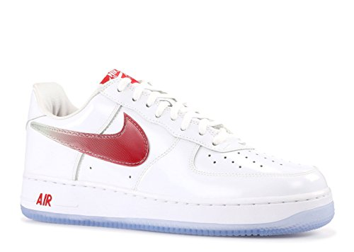 NIKE Men's Air Force 1 Retro Taiwan, White/Varsity Red-Midnight Navy, 8.5 M US - Nike Air Force 1 Retro
