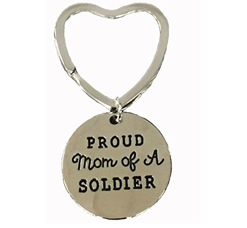 Infinity Collection Proud Soldier Mom Keychain, Love My Soldier Jewelry, Gift for Mom