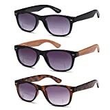 Gamma Ray Bifocal Sunglasses - 3 Pairs Sun Reader Sunglasses 2.50 Reader for Sun