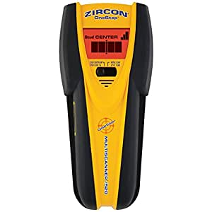 Zircon 68314 MultiScanner i520 Center-Finding Stud Finder with Metal and AC Electrical Scanning