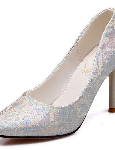 ZQ Zapatos de mujer-Tac¨®n Stiletto-Tacones / Puntiagudos-Tacones-Vestido / Fiesta y Noche-Semicuero-Negro / Rosa / Plata , silver-us10.5 / eu42 / uk8.5 / cn43 , silver-us10.5 / eu42 / uk8.5 / cn43 pink-us10.5 / eu42 / uk8.5 / cn43