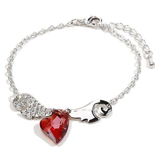 BL-070342C4 Alloy Folk-Custom Heart-Shaped Inlaid Crystal Women's (Craftsman Corner Office)