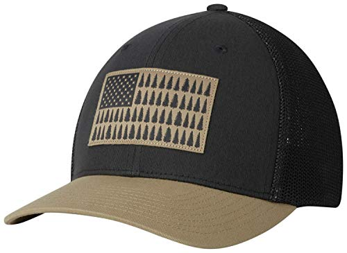 - Columbia Men's Mesh Tree Flag Ball Cap, Shark, British Tan, Large/X-Large