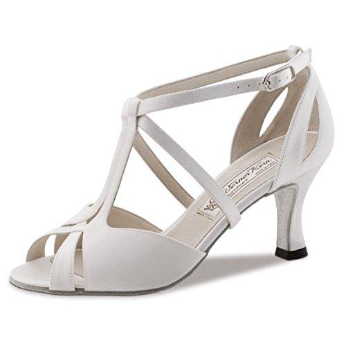 Werner Kern–Zapatos de baile para mujer Francis 6,5 Satin Weiß