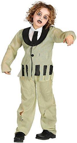 Girls Boys Kids Zombie Wedding Groom Suit Halloween Horror Scary Fancy Dress Costume Outfit 5-9yr (7-9 years) -