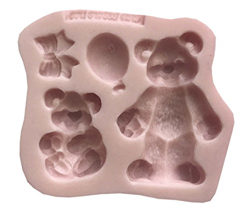 Teddy Bear Silicone - TEDDY BEARS Silicone Mold By Oh! Sweet Art FDA Approved for Food