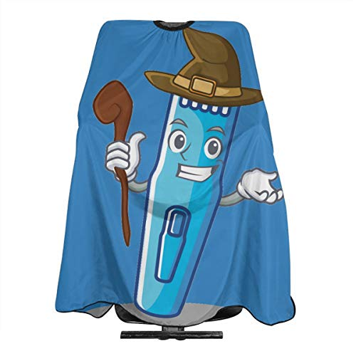 Halloween Witch Blue Machine Electric Trimmer Hairdresser Hair Stylist Haircut Cover Salon Barbering Cape Shop Accessories Styling Cutting Kit Professional Pare Estilista Barbero Adults Capa -