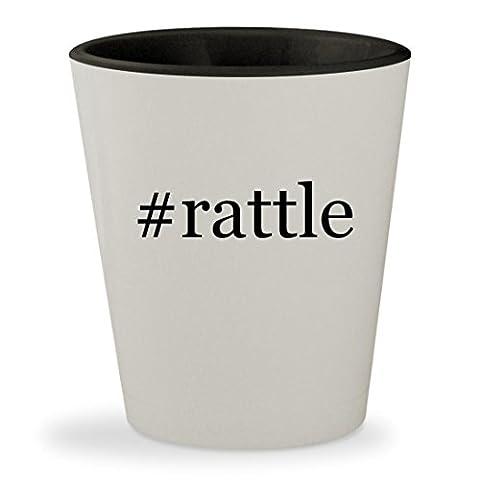 #rattle - Hashtag White Outer & Black Inner Ceramic 1.5oz Shot Glass (Bla Bla Rattle)