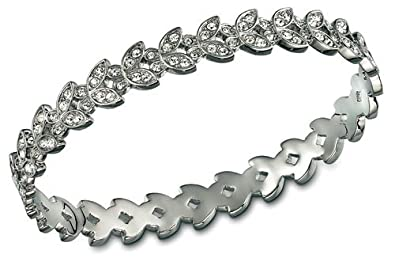 6dc3f3b06 Image Unavailable. Image not available for. Color: Swarovski Nightingale  Pattern Bangle, M
