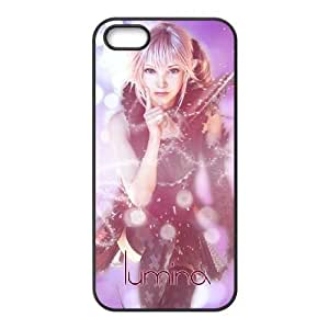 Final Fantasy_007 TPU Cell Phone Case For iphone 5 5s SE Black