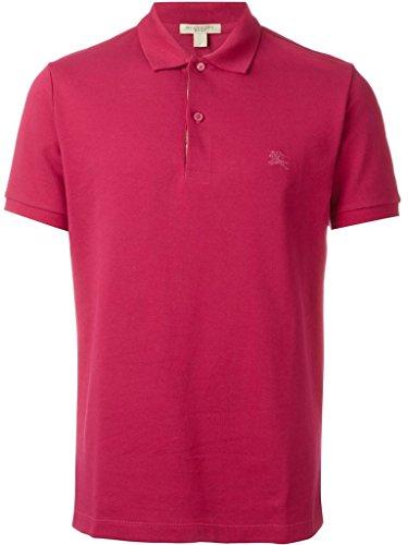 Burberry Brit Men's OXFORD Check Trim Cotton Polo Shirt in Vibrant ()